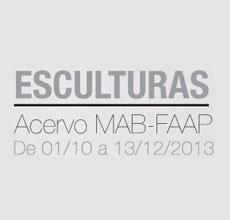 Exposição 'Esculturas – acervo MAB-FAAP'